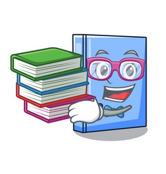 Student with book office binder file isolated on vector
