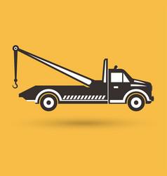 tow truck emblem vector image