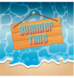 tropical beach vacation image vector image