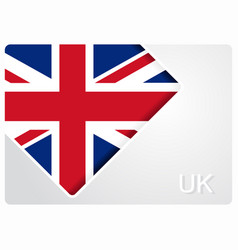 United kingdom flag design background vector