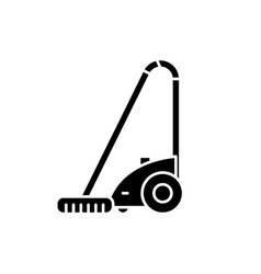 Vacuum cleaner black icon sign on isolated vector
