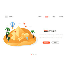 visit egypt - modern colorful isometric web banner vector image