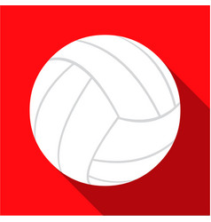 volleyball icon flate single sport icon from the vector image