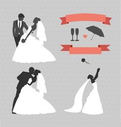 wedding set design elements vector image
