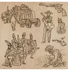 Wild West - Hand drawn pack vector