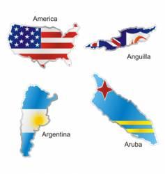 America maps vector image vector image