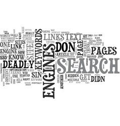 the deadly sins guaranteed to get your website vector image vector image