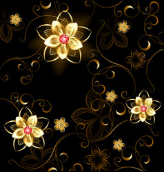 Jewelry pattern on a brown background vector image vector image