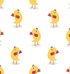 Little chickens seamless pattern vector image