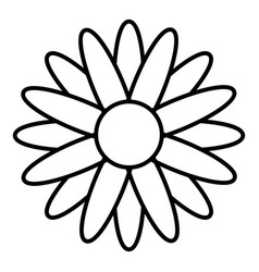 honey flower icon outline style vector image vector image
