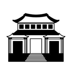 japanese building traditional icon vector image vector image