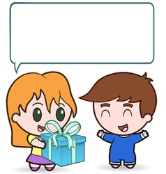 present for the boy vector image