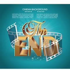 Vintage movie ending screen vector image