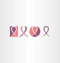 Cancer ribbon icon set logo vector