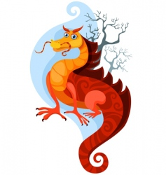 dragon vector image vector image
