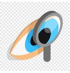 eye exam isometric icon vector image