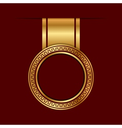 gold label vector image vector image