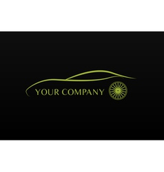 Green car logo vector
