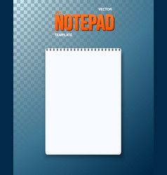 realistic black notepad template icon vector image vector image