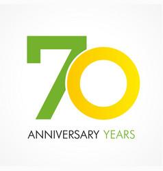 70 circle anniversary logo vector