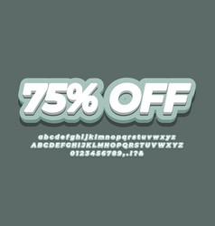 75 off seventy five percent sale discount vector