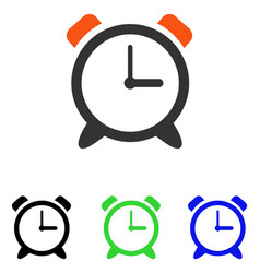 alarm clock flat icon vector image
