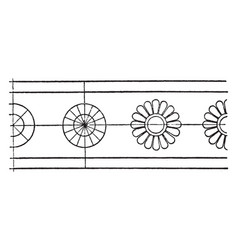 antique bronze shield rosette band is a small vector image