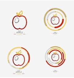 Apple logo concept stamp vector image