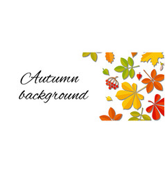 Autumn falling leaf background vector