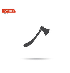 axe icon flat isolated sign symbol vector image