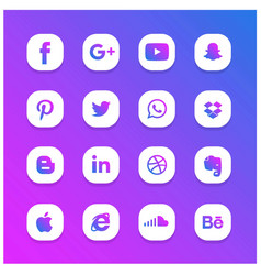 Blue and purple abstract glowing social network vector