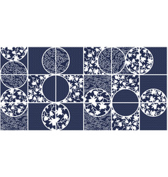 blye azulejo ceramic tiles seamless pattern vector image