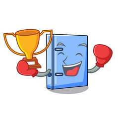 Boxing winner office binder file isolated on vector