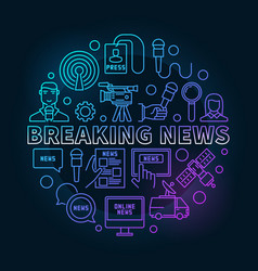 Breaking news colorful ine vector