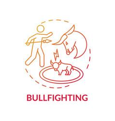 Bullfighting red gradient concept icon vector