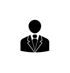 Businessman solid icon user business vector