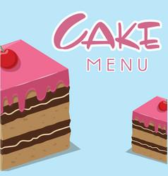 cake menu cake background image vector image