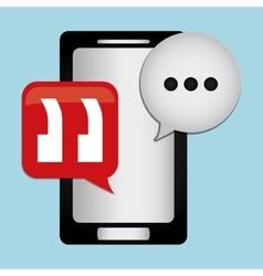 Chat speech bubbles vector image
