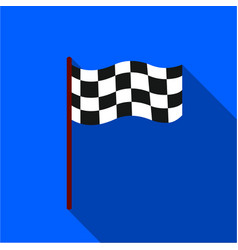 Checkered flag icon flate single sport icon from vector