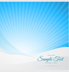 clean blue background with space for your text vector image