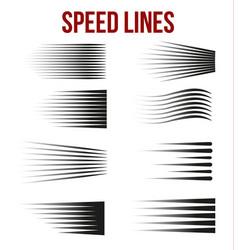 comic book design element speed lines vector image