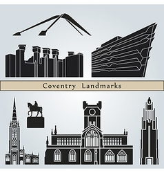 Coventry landmarks and monuments vector image