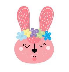 Cute easter bunny easter rabbit vector