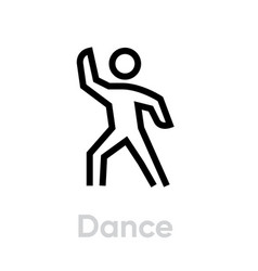 dance sport activity icon vector image