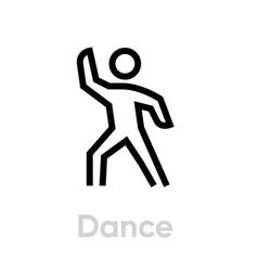 Dance sport activity icon vector