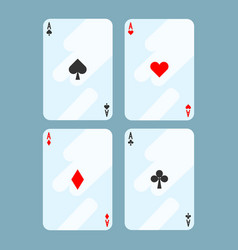 Deck cards all aces on vector