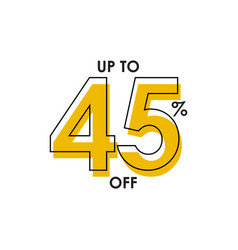 Discount up to 45 template design vector