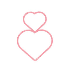 drawing hearts love decoration vector image