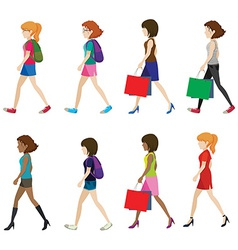 Faceless women vector image