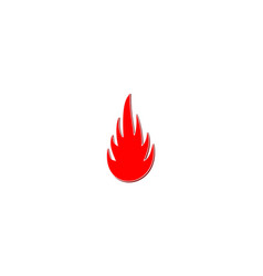 fire flames logo designs inspiration isolated on vector image